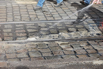 Cleaning cobbles